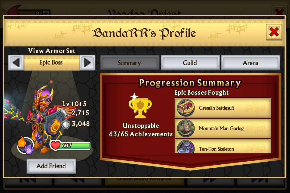 Level cap in Knights and Dragons?