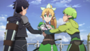 Kirito and company preparing to attack the world tree.png