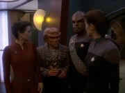 Quark spricht mit potenziellen Besuchern