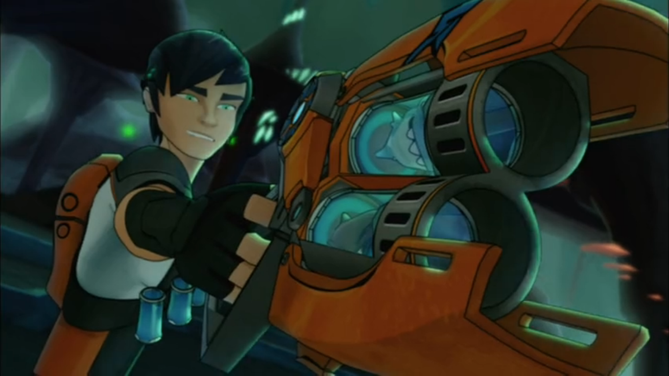 Image - 'Buzzsaw' & 'Torch' in 'Fusion Blaster'.png ... Slugterra Double Barrel Blaster