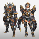 FrontierGen-Myuzu Armor (Blademaster) and Zere Armor (Gunner) (Front) Render.jpg