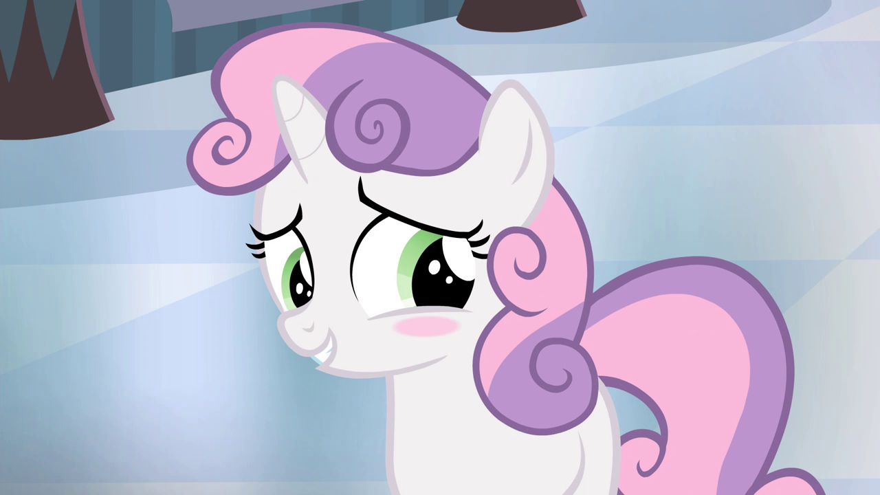my little pony sweetie belle and button mash