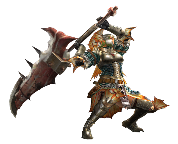 2ndGen-Great Sword Equipment Render 001Greatsword Monster Hunter