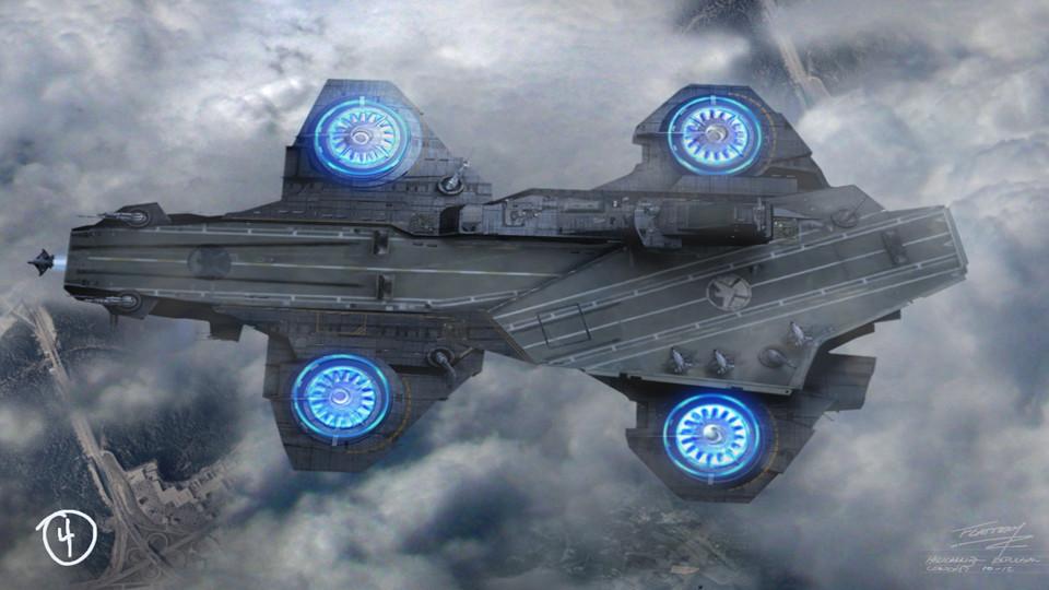 Magical Space Ship Superman Silver Space Ship