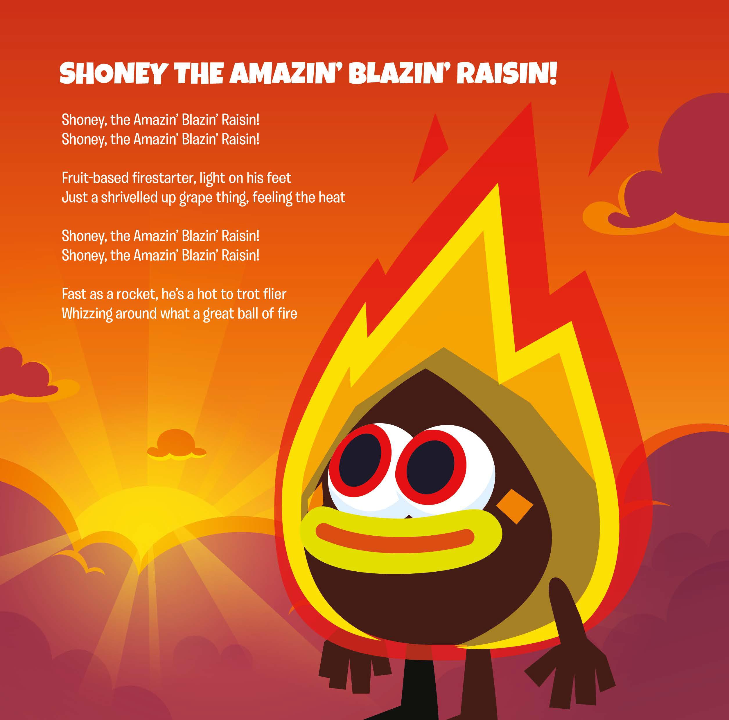 shoney the amazin blazin raisin song moshi monsters wiki