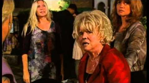 Eastenders - Queen Vic fire and Peggy's exit