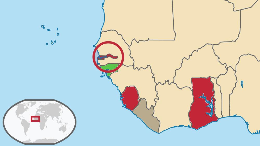 West Africa Location Location of British West