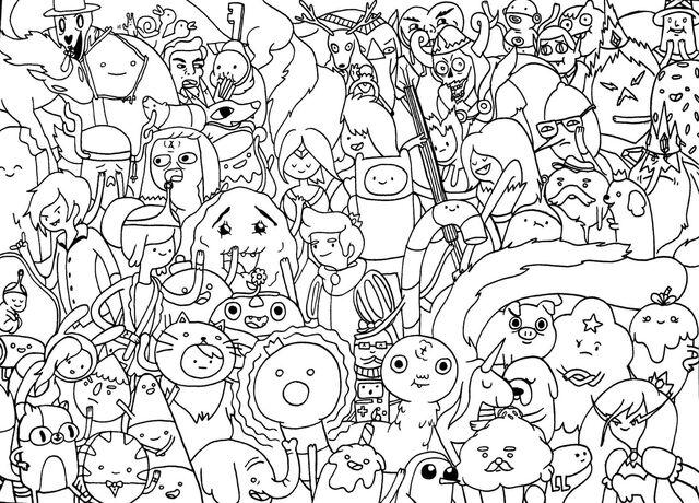 Arquivo:Hora da aventura para colorir.jpg