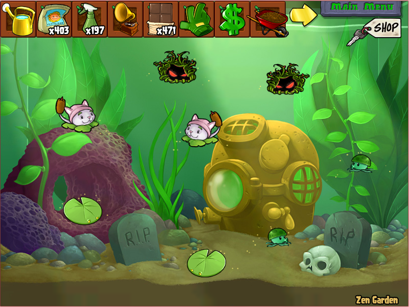 Plants vs Zombies Zen Garden Zen Garden Full Plants