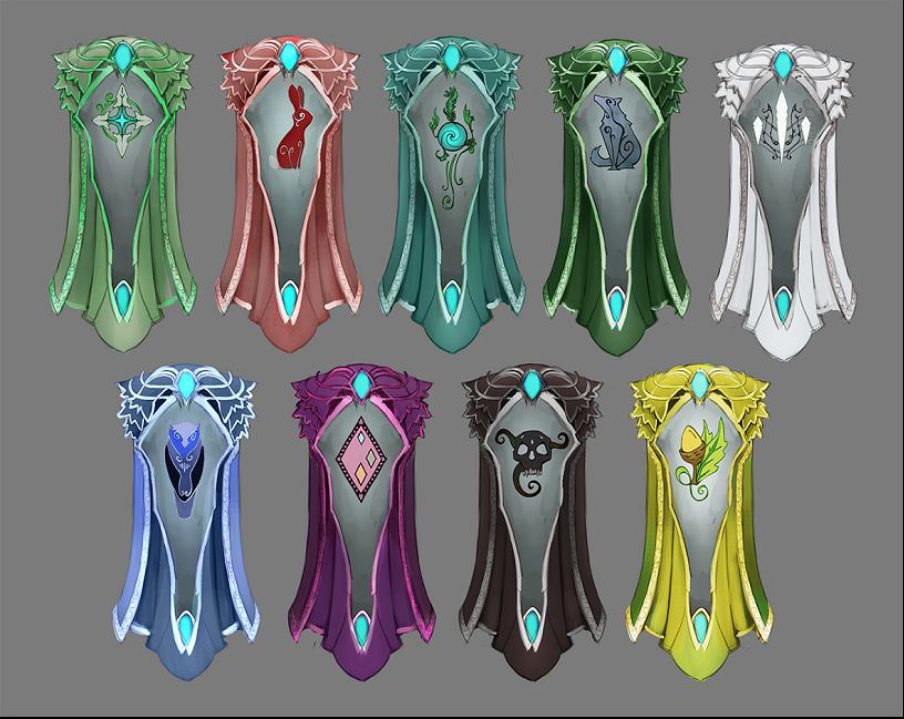 Elf_City_-_Elven_Clan_capes_concept_art.