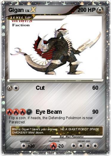Make Pokemon Cards Based On Godzilla Gamera Characters