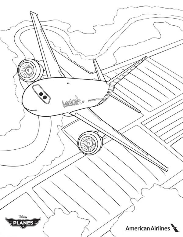 southwest airplane coloring pages - photo#4