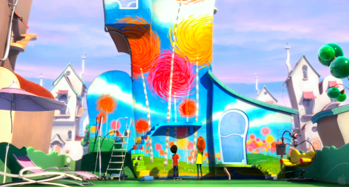 The Lorax Truffula Trees Painting Audrey - rise of the brave