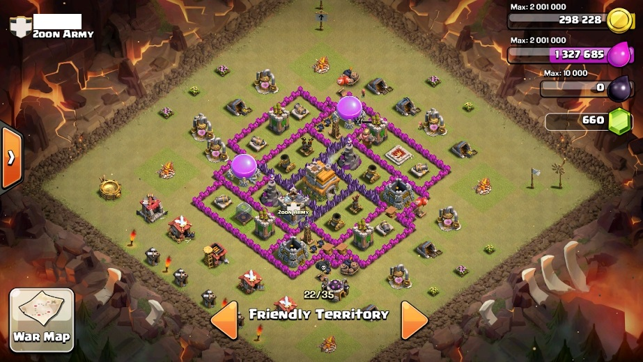 Effective town hall 7 layout for clan wars clash of clans wiki