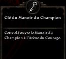 Clé du Manoir du Champion