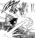 Gilthunder getting behind Meliodas while he was charging at him.png