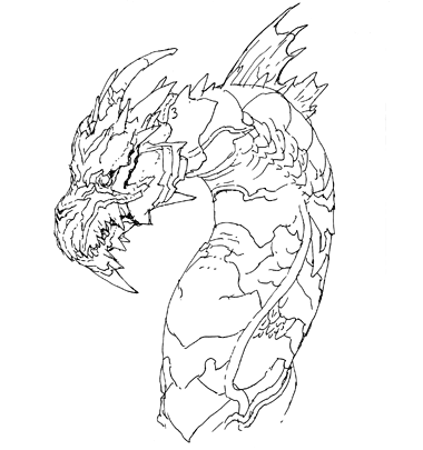 File:Concept_Art_ _Godzilla_Final_Wars_ _Keizer_Ghidorah_Head_Left