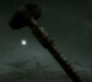 Maczuga wojenna z kamienną głownią