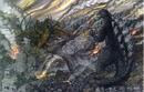 Concept Art - Godzilla Final Wars - Godzilla vs. Keizer Ghidorah.png