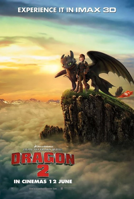 how to train your dragon poster textless