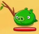 Свинья с палкой