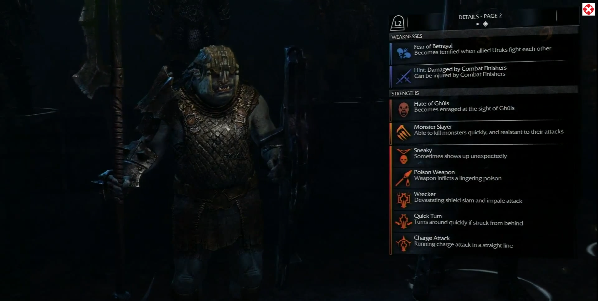 Middle-earth: Shadow of Mordor Weaknesses_page