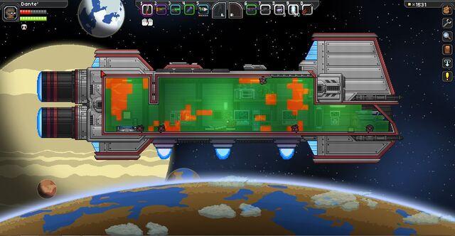 космический корабль Starbound