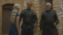Daenerys orders barristan and jorah to not question her.png