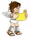 Artwork de Pit con el mapa en Kid Icarus.png
