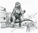 Concept Art - Godzilla vs. Destoroyah - Godzilla Junior 7.png