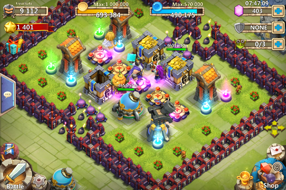 Cannon Towers is for my other account even with 4 arrow towers on