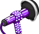 Micrófono con Purpurina