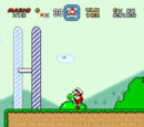 Pasar sobre la meta (Super Mario World)