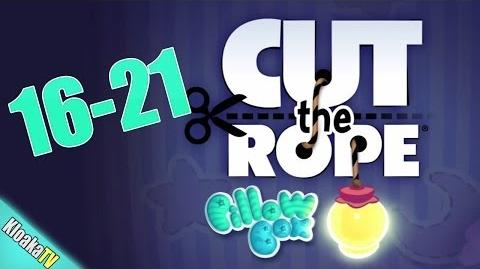 Cut The Rope 16-21 Pillow Box Walkthrough (3 Stars)