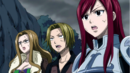 Erza's team see the defeated mage.png