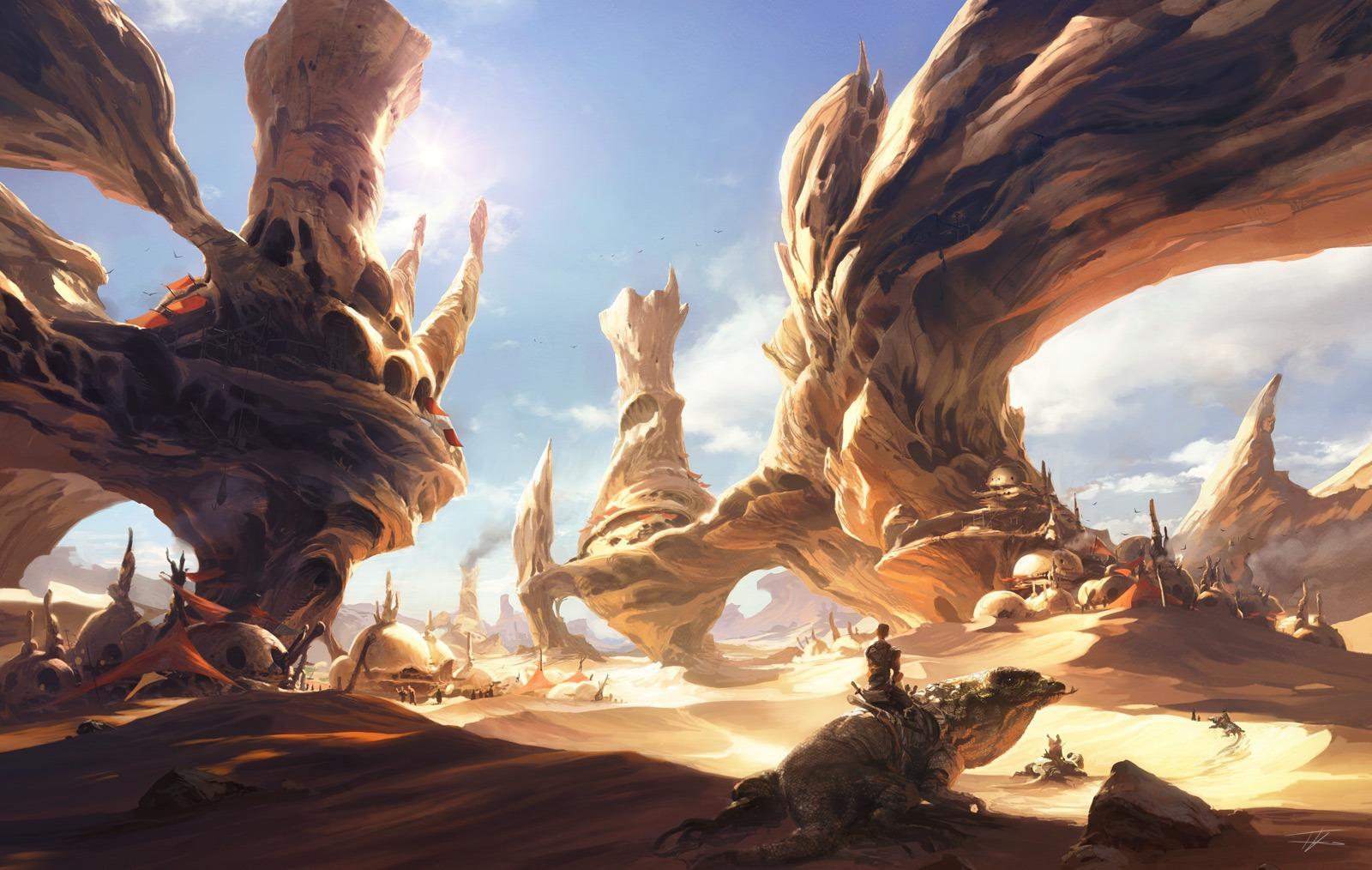 Fantasy Art Desert Landscapes Image Fantasy Art Desert
