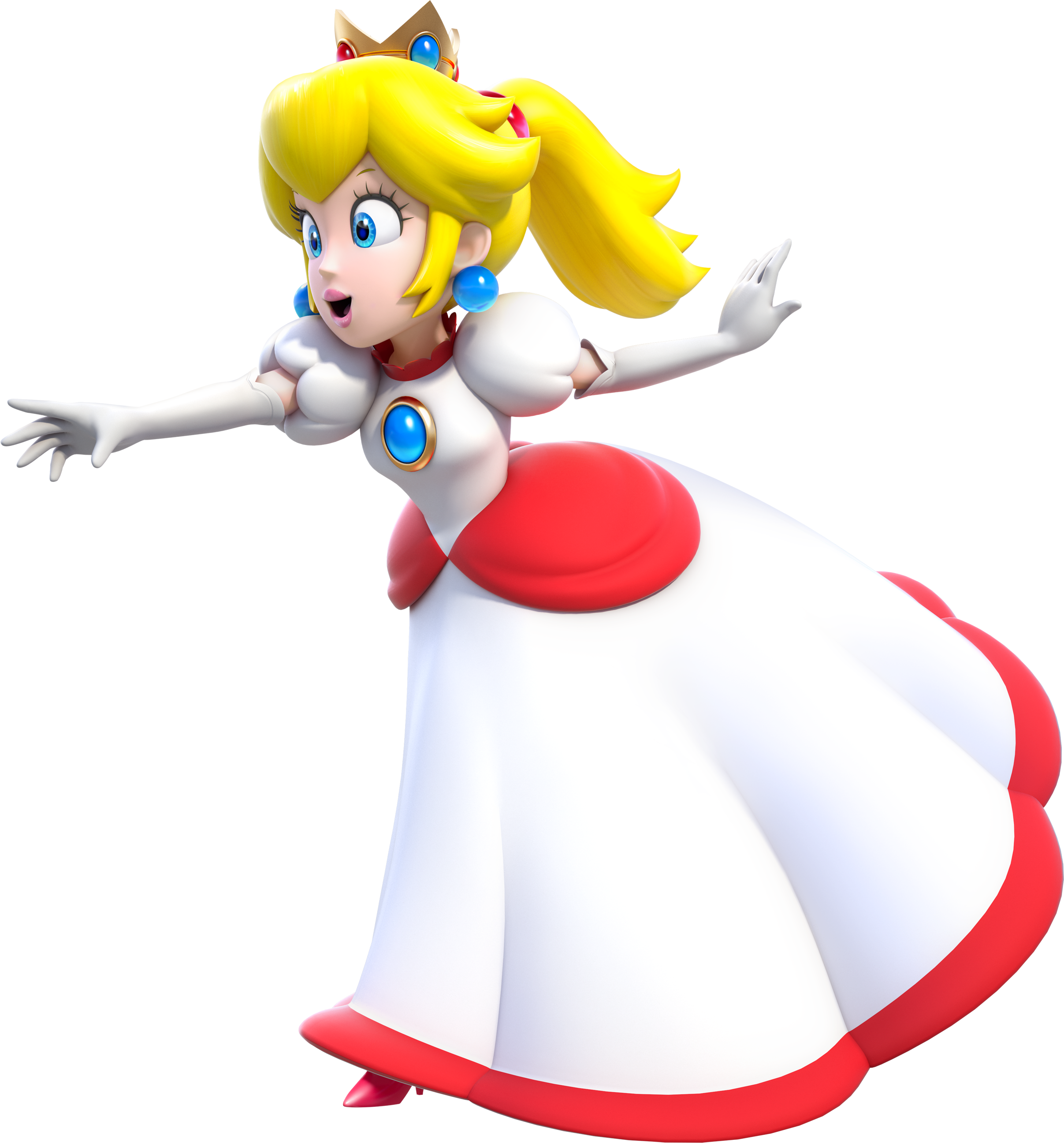 Image - Fire Princess Peach Artwork (alt) - Super Mario 3D ...