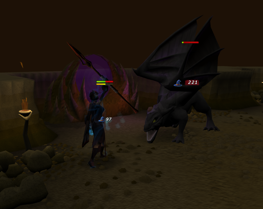runescape how to kill dragons without shield