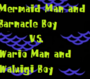 Mermaid Man and Barnacle Boy vs. Wario Man and Waluigi Boy (SpongeBob & Super Mario Crossover)