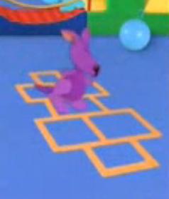 image purple kangaroo hopscotchjpg blues clues wiki