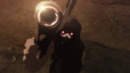 Death Gun threatening the audience.png