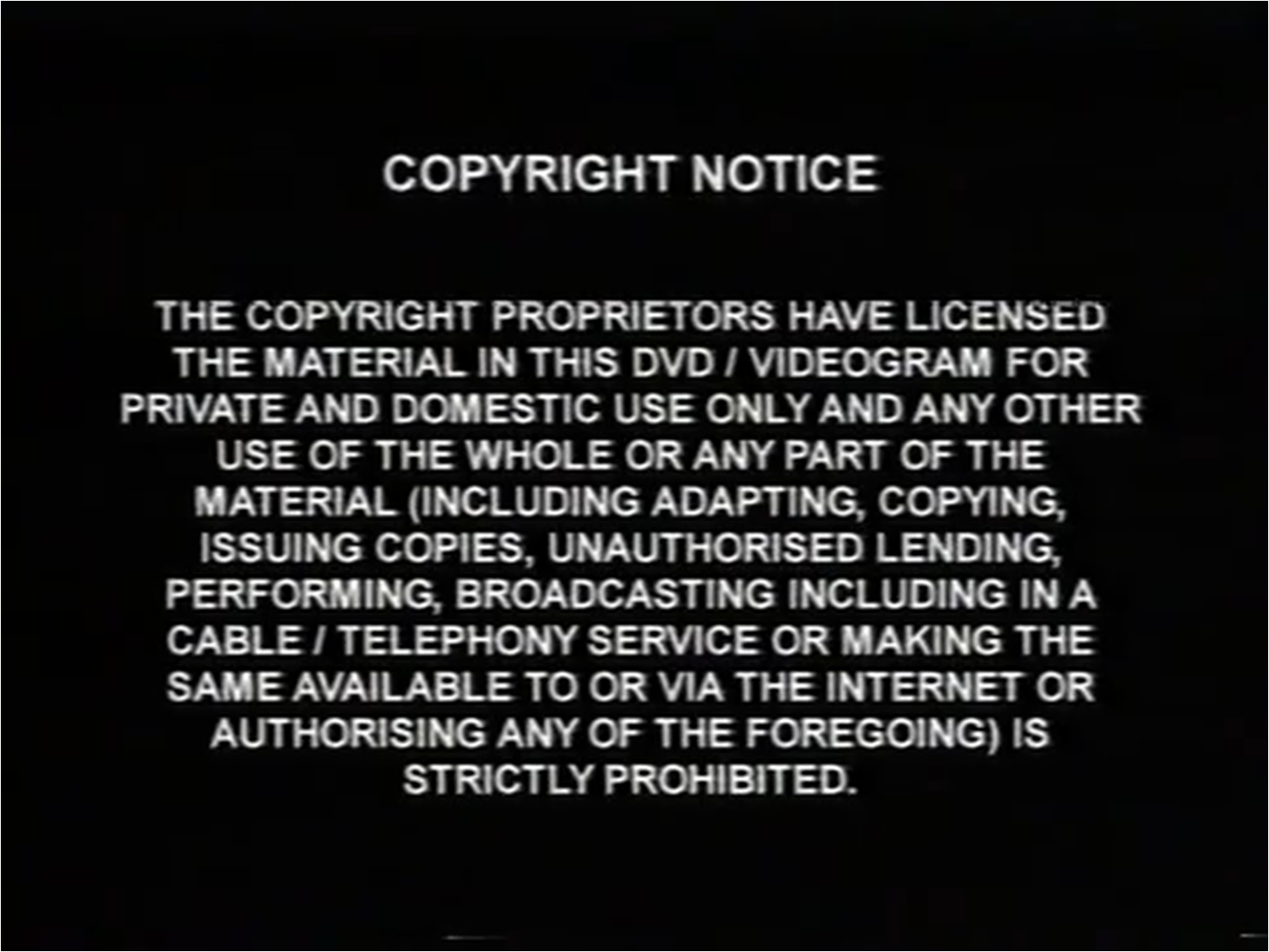 copyright notice template