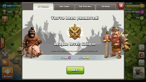 3StarsClanWars/Clash of Clans Town Hall 4 (TH4) Trophy Push To Crystal League III