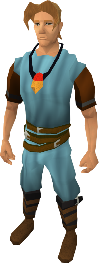 player wearing an amulet of souls.