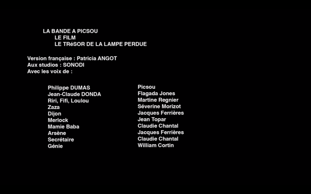 Image Ducktales The Movie French Credits Png Voice