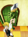Meliodas showing his Dragon Handle.png