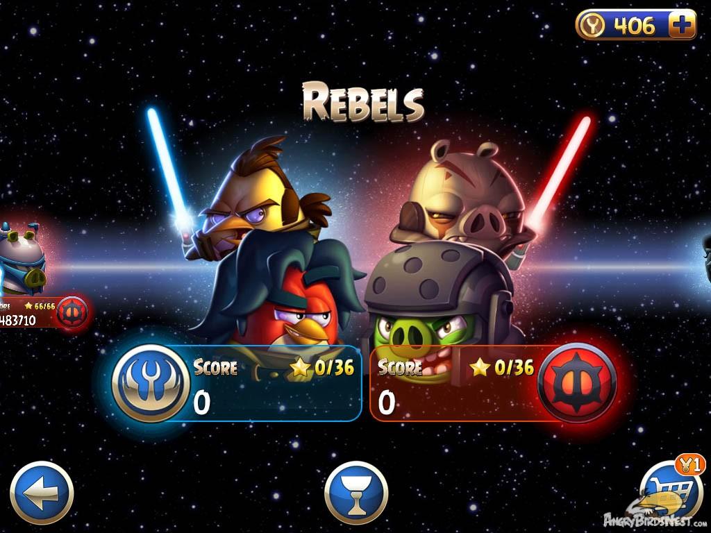 Imagen angry birds star wars 2 rebels episode selection - Angry birds star wars 8 ...