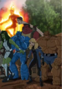 Fantastic Four (Earth-12041) and Supreme Military Agency of Super Humans (Earth-12041).png
