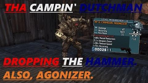 Borderlands Dropping the hammer. Also, Agonizer. (Let's play 11 )