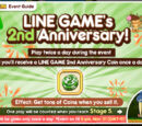 LINE GAME 2nd Anniversary Coin